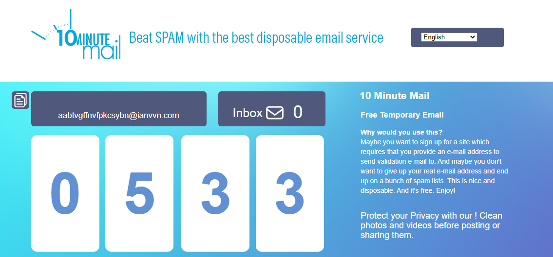 10minutemail-email generators
