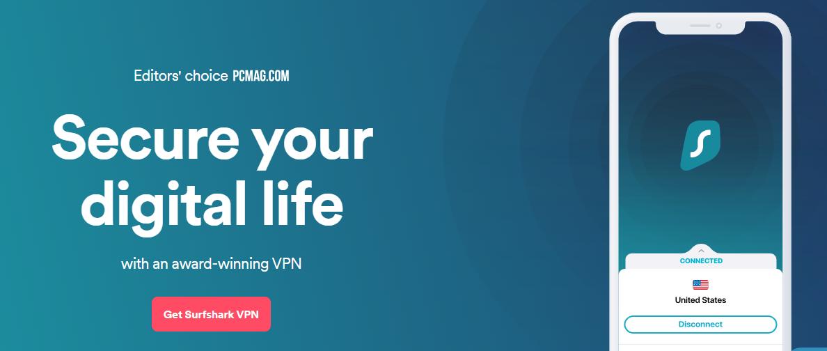 Surf shark – Best VPN for Torrenting