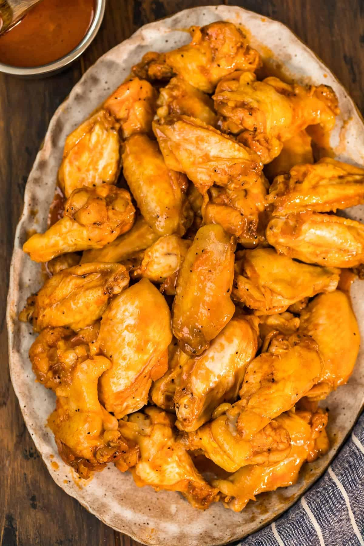 Crockpot Honey BBQ Chicken Wings Recipe