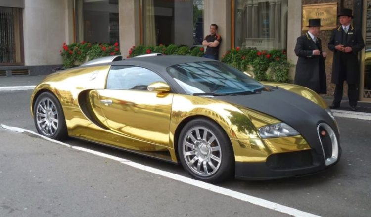 Gold Plated Bugatti Veyron