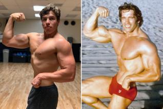 Arnold Schwarzenegger's Son Joseph Baena Flaunts Hot Muscles