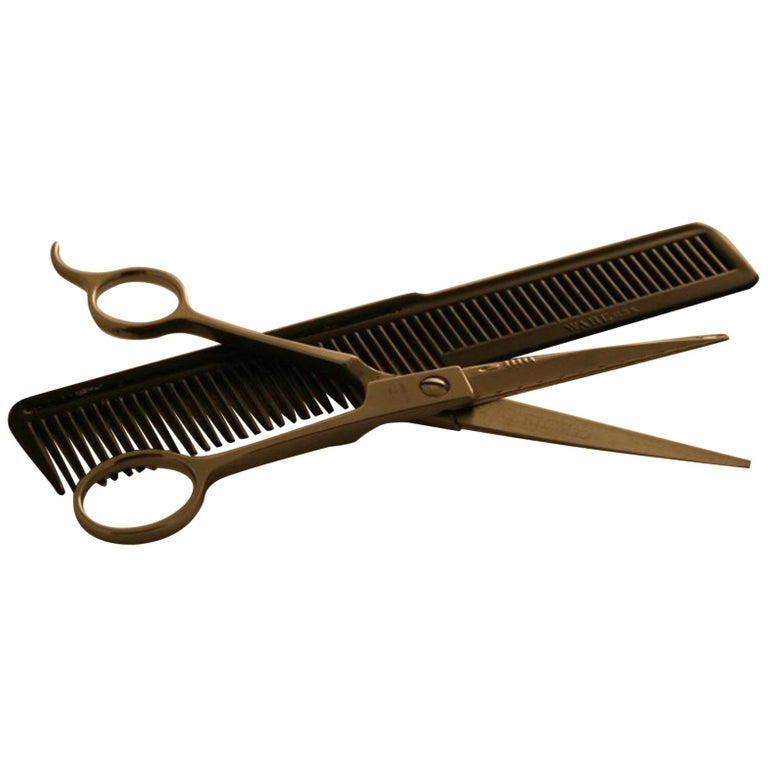 Neil Armstrong's Hairdressing Comb and Scissors